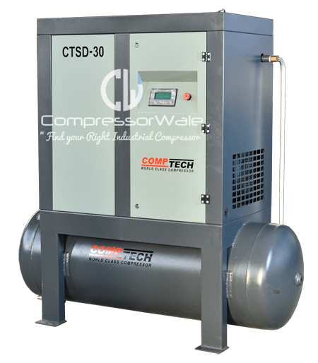 Comptech Tank Mounted Screw Air Compressor