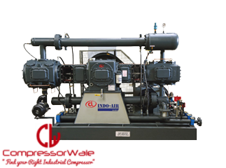 High flow reciprocating air compressors horizontal two stage type model