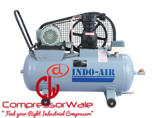 Small portable mobile reciprocating air compressor