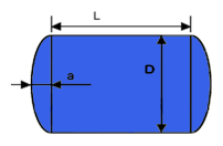 image-showing tank measurements and how to calculate the volume of a receiver or pressure vessel through its outer dimensions