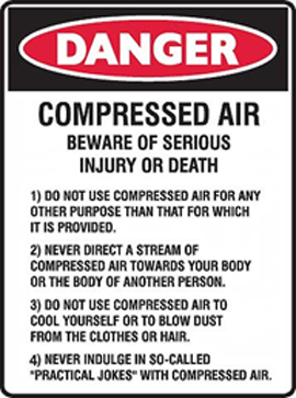 Death by Air Compressors and Compressed Air