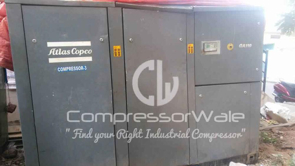 Atlas Copco GA110 - 160 HP Screw Air Compressor