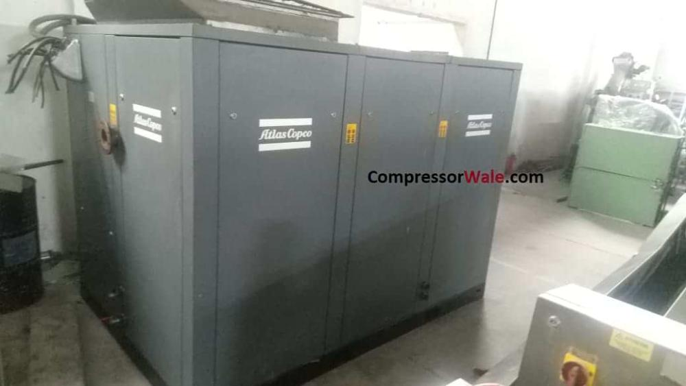 Second Hand Used Atlas Copco Screw Compressor GA160