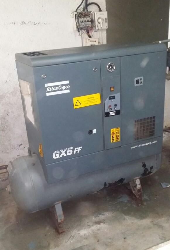 Atlas Copco Screw Air Compressor GX5FF