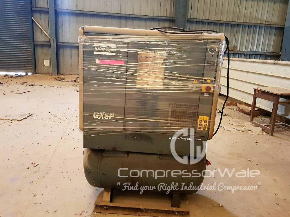 Second-Hand Atlas Copco GX5P Screw Air Compressor for Sale in Bhuj, Gujarat