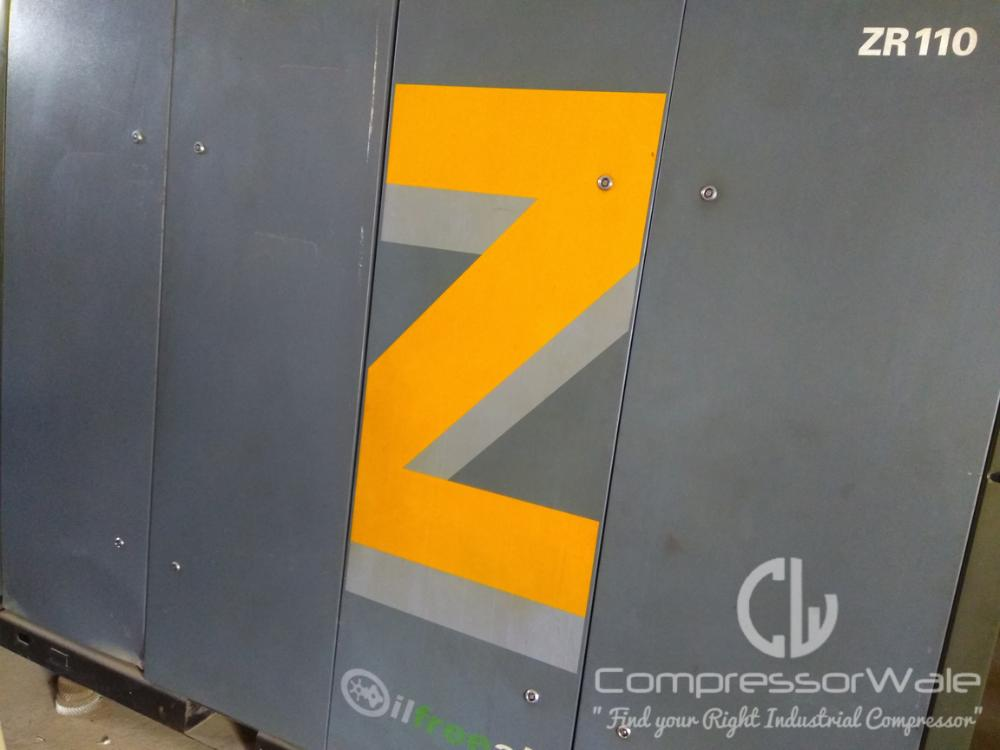 Atlas Copco Oil Free Screw Air Compressor Model: ZR110