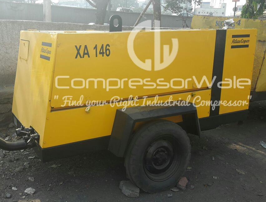 Atlas Copco XA146 Portable Screw Air Compressor
