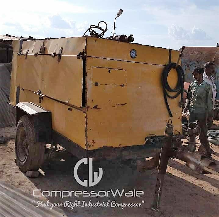 Atlas Copco XA280 Portable Diesel Engine Driven Screw Air Compressor