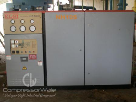 Elgi 110 KW Screw Air Compressor with Gem refrigerated air dryer and air receiver
