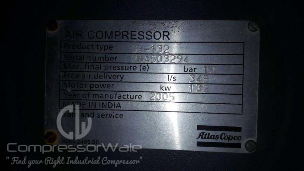 Atlas Copco GA 132 Screw Air Compressor