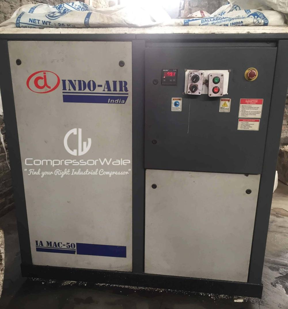 Second Hand Screw Air Compressor 50HP Indoair brand for sale in Uttrakhand