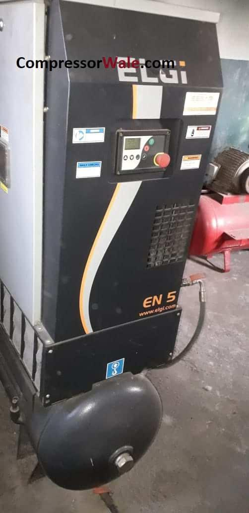 Second Hand Used ELGi EN5 7.5HP Screw Air Compressor, MH