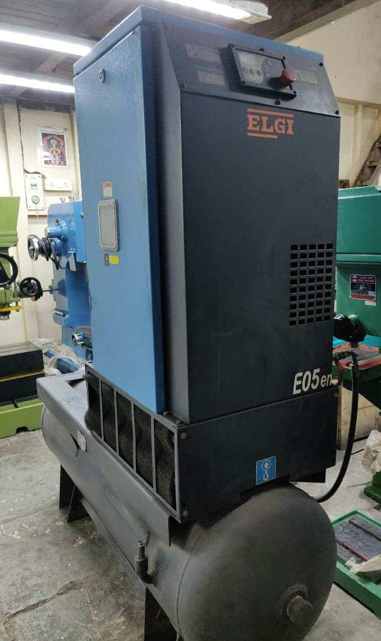 Second Hand Elgi EN5 Screw Compressor Tank Mounted Mumbai India