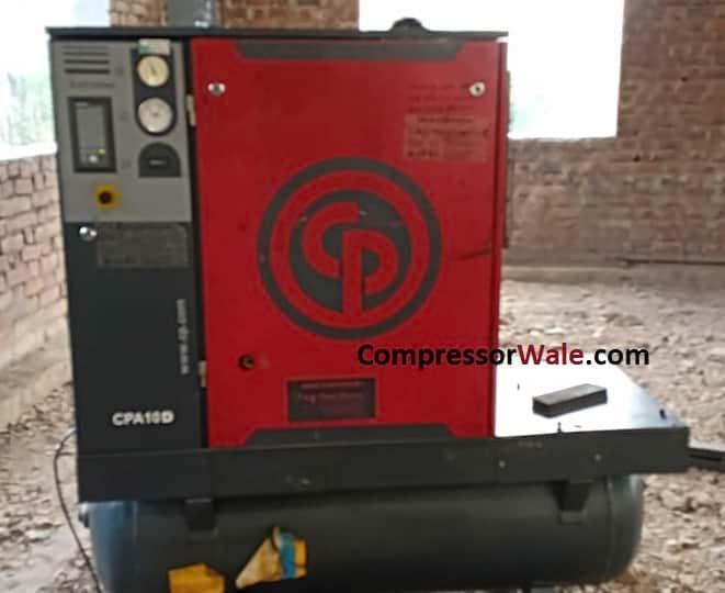 Second Hand used CP Screw Air Compressor 10HP Satara India