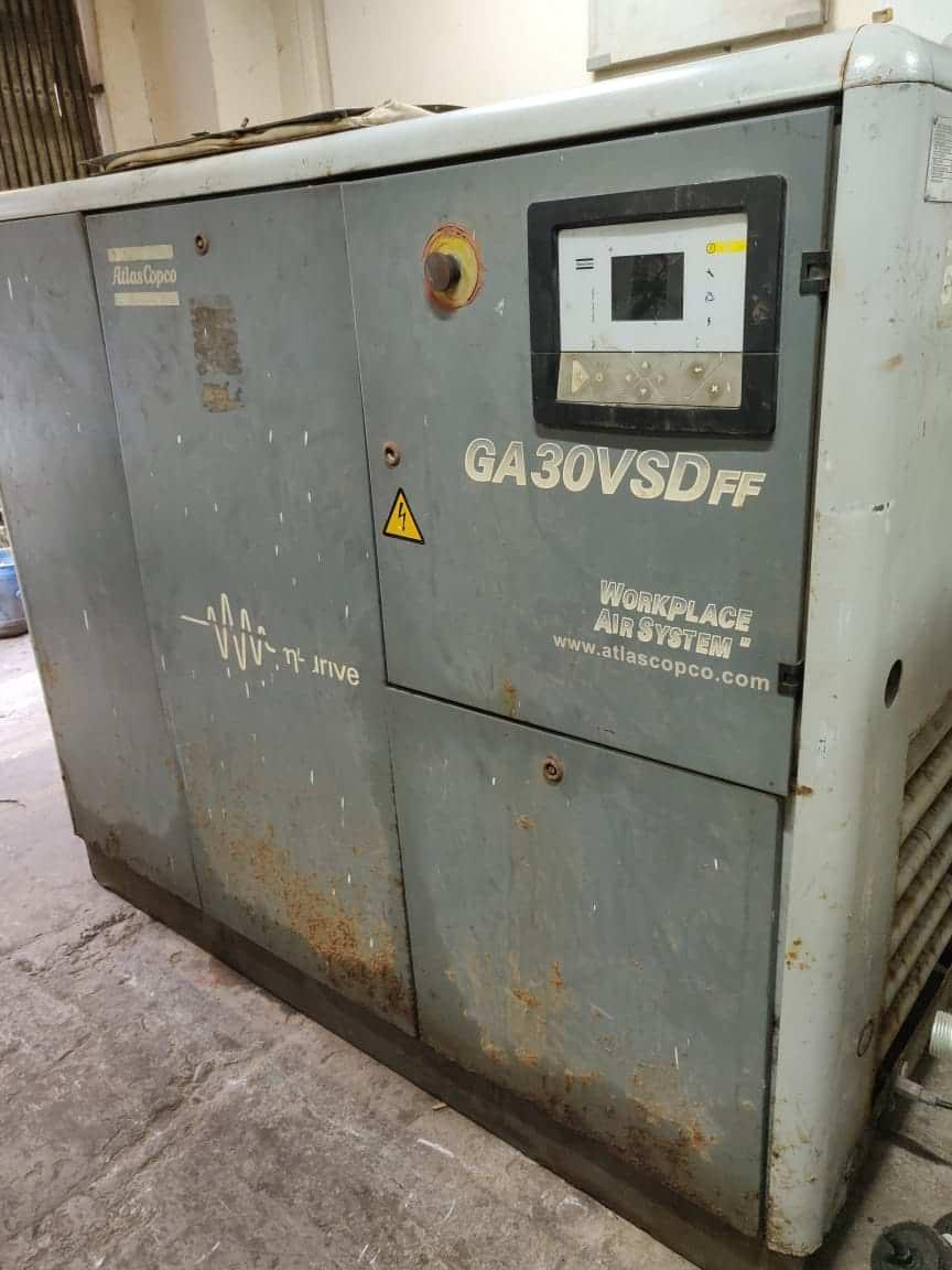 Second-Hand-used-GA30VSDFF-GA-30VSD-India-at-13-Bar