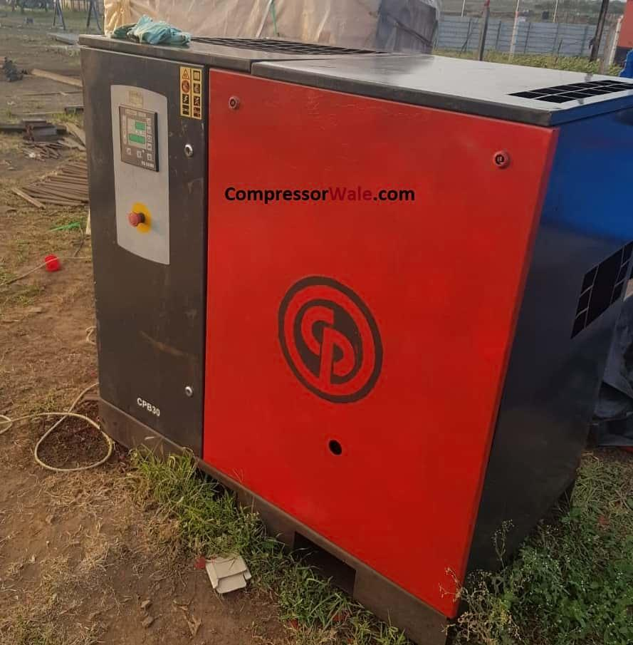Second Hand Used CP make Screw Air Compressor 30HP