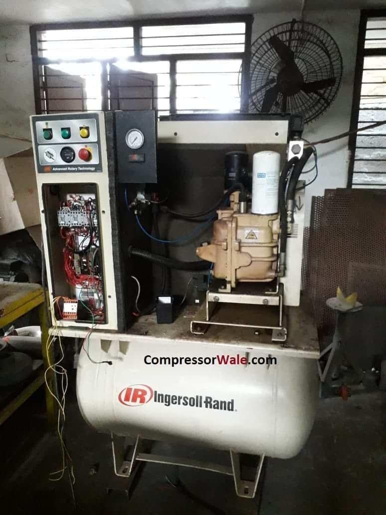 Second Hand Used Screw Air Compressor 7.5Kw 10HP IR make, Chennai