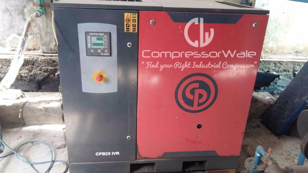 Second Hand Chicago Pneumatic CPB25 IVR Screw Air Compressor Inverter drive