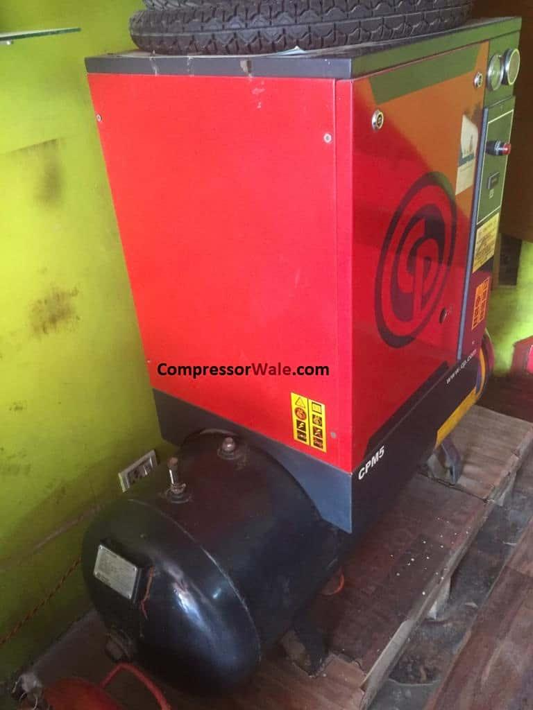 Second Hand Chicago Pneumatic Screw Air Compresor 5HP, Delhi