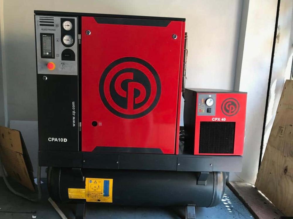Second Hand used CP 10HP 10Bar Screw Air Compressor India