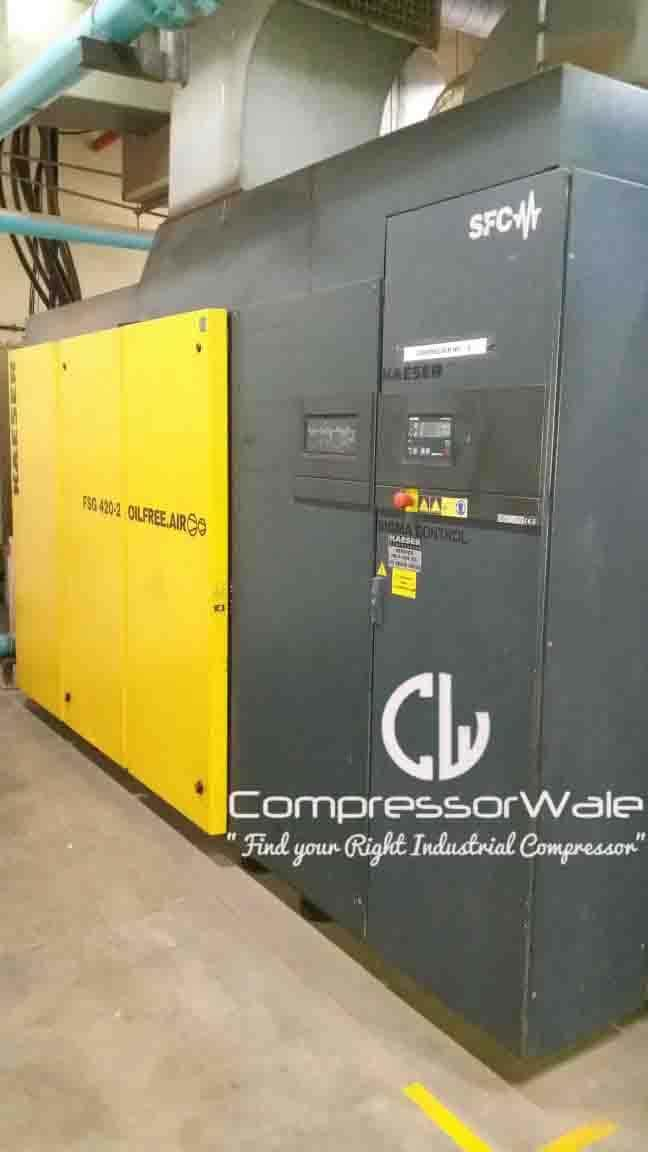 Kaeser oil free screw air compressor with variable speed drive for sale in mumbai