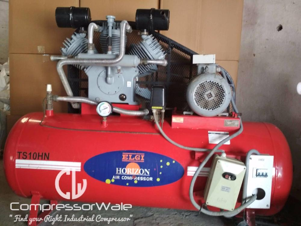 Piston Air Compressor ELGi make 10HP at 12 Bar for sale in Indore, MP