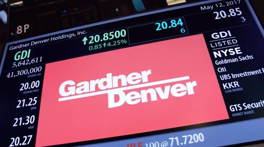 Gardner Denver Listed on New York Stock Exchange