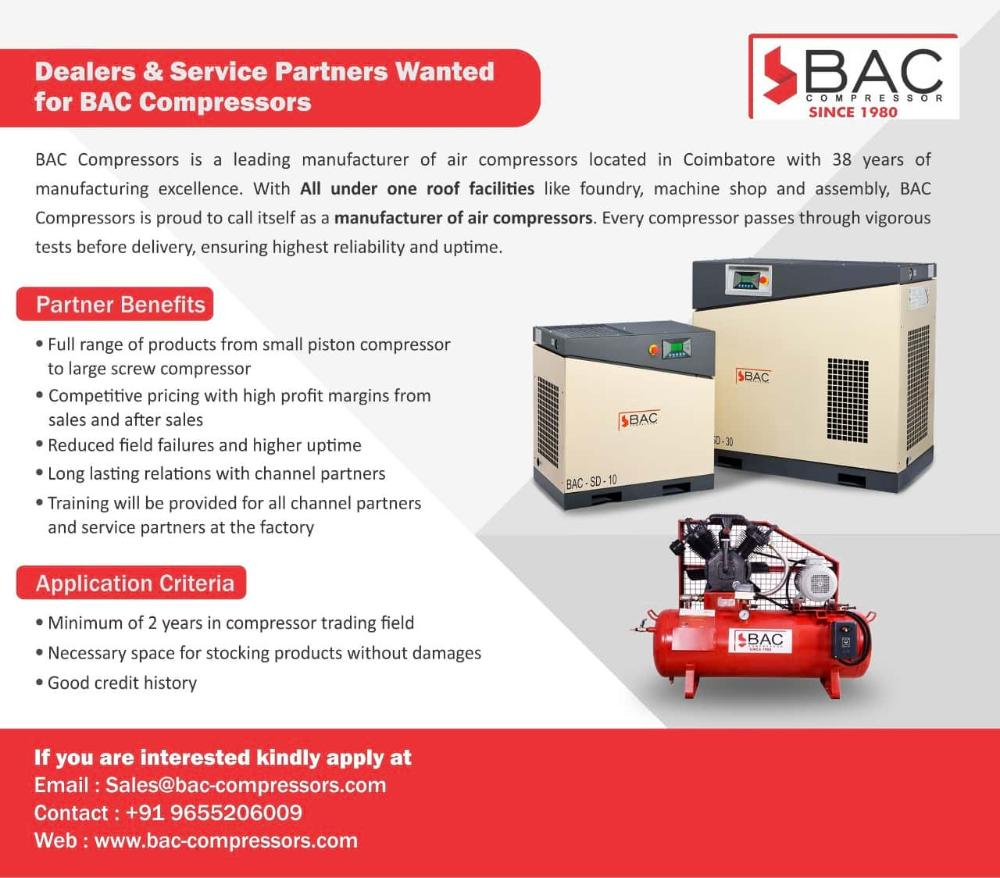 Dealers & Service Partners Wanted for BAC Compressors