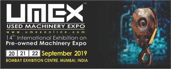 UMEX Used Machinery Expo in Mumbai in September 2019