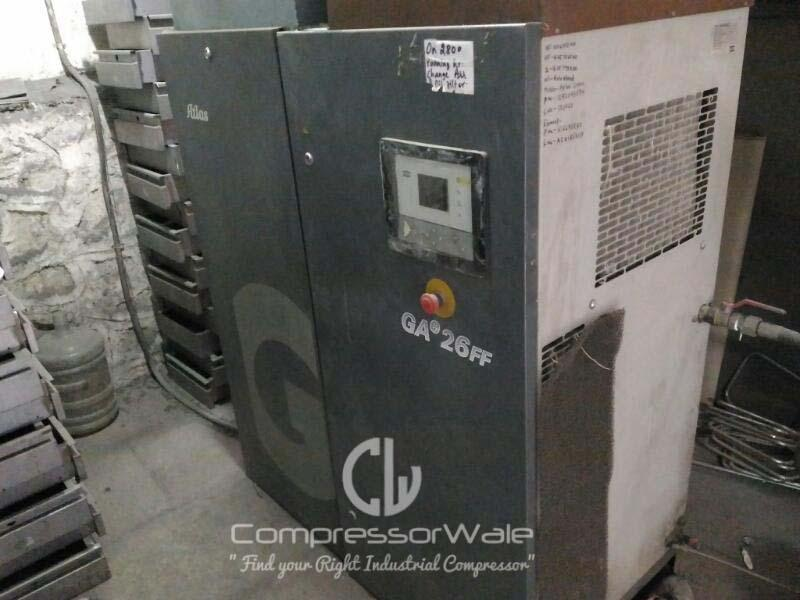 Good as New, Atlas Copco GAe-26-FF Screw Air Compressor, Ambarnath